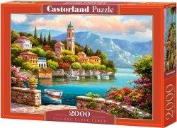 Puzzle 2000 Castorland C-200696 Wieża Zegarowa Village