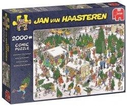 Puzzle 2000 Jumbo 19062 Jan van Haasteren - Sprzedaż Świątecznych Choinek