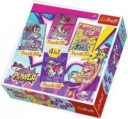 Puzzle 4w1 Trefl T-34251 Barbie - Super Przyjaciele