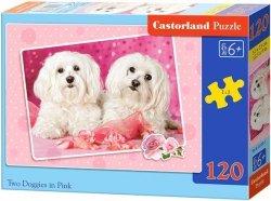 Puzzle 120 Castorland B-13128 Dwa Białe Pieski
