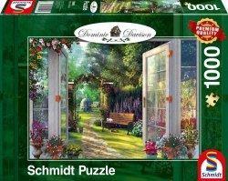Puzzle 1000 Schmidt 59592 Dominic Davison -  Pokój z Widokiem na Ogród