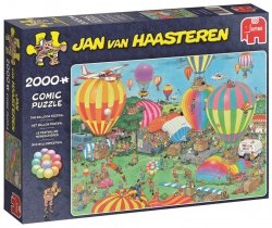 Puzzle 2000 Jumbo 19053 Jan van Haasteren - Festiwal Balonów Pasażerskich