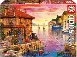 Puzzle 5000 Educa 17135 Mediterranean Harbour - Dominic Davison
