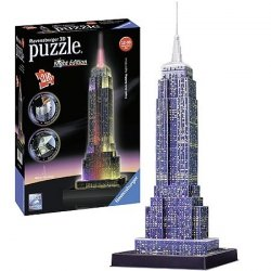 Puzzle 3D 216 Ravensburger 125661 Empire State Building - LED Night Edition