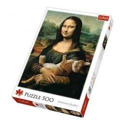 Puzzle 500 Trefl 37294 Mona Lisa z Kotem