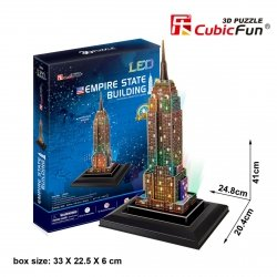 Puzzle 3D CubicFun 38 Empire State Building (Led) - L503h