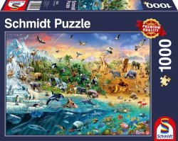 Puzzle 1000 Schmidt 58324 Królestwo Zwierząt
