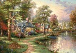 Puzzle 1500 Schmidt 57452 Thomas Kinkade - Nad Jeziorem