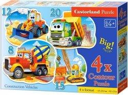 Puzzle 8,12,15,20 Castorland B-043057 Pojazdy