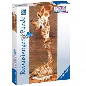 Puzzle 1000 Ravensburger 151158 Żyrafy - Panoramiczne