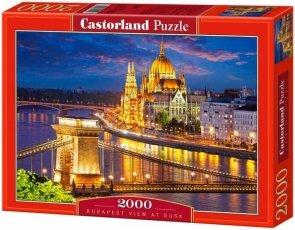 Puzzle 2000 Castorland C-200405 Budapest View at Dusk