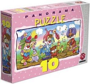 ! Puzzle Maxim 10 Panorama - Zabawa w Cyrk - P-10.01.02