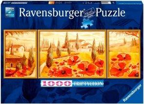 Puzzle 1000 Ravensburger 199945 Tryptyk - Maki w Toskanii