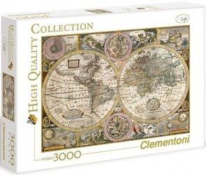 Puzzle 3000 Clementoni 33531 Antyczna Mapa Świata