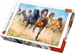 Puzzle 2000 Trefl 27098 Konie w Galopie