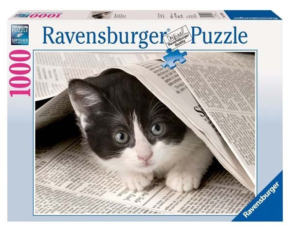Puzzle 1000 Ravensburger 192564 Ciekawski Kotek