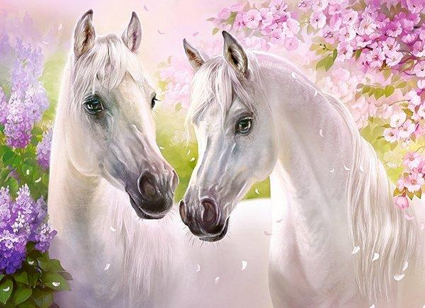 Puzzle 300 Castorland B-030378 Białe Konie