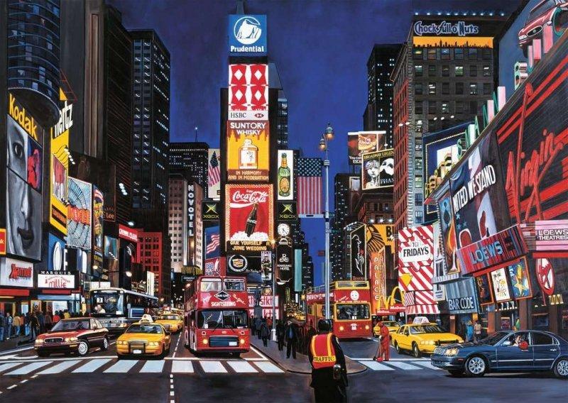 Puzzle 1000 Ravensburger 192083 Times Square w Nowym Jorku
