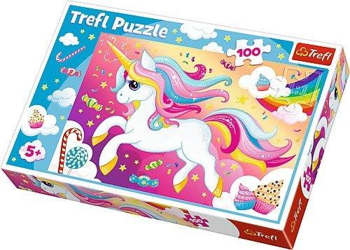 Puzzle 100 Trefl 16386 Piękny Jednorożec