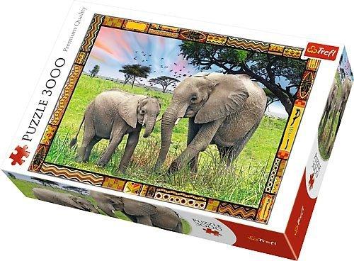 Puzzle 3000 Trefl 33067 Słonie - Sawanna