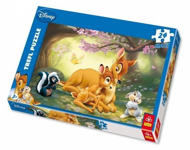 Puzzle 24 Maxi Trefl 14096 Bambi - Najlepiej z Mamą