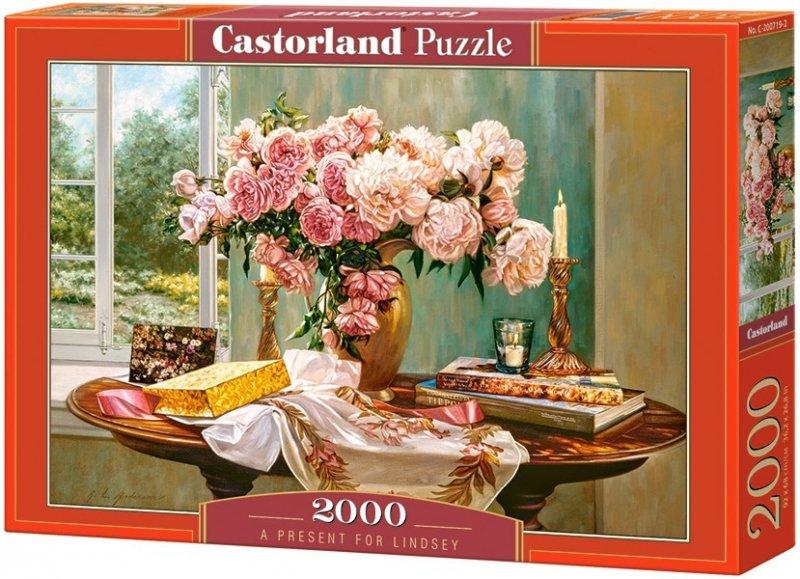 Puzzle 2000 Castorland C-200719 Kwiaty - Prezent dla Lindsey