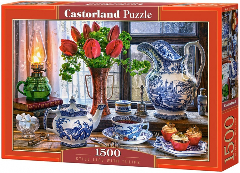 Puzzle 1500 Castorland C-151820 Martwa Natura z Tulipanami