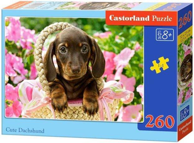 Puzzle 260 Castorland B-27514 Piesek w Koszyku