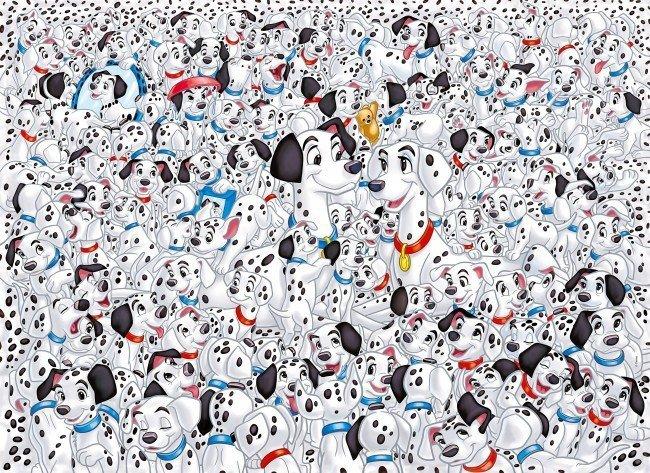 Puzzle 1000 Clementoni 39358 Impossible - 101 Dalmatyńczyków