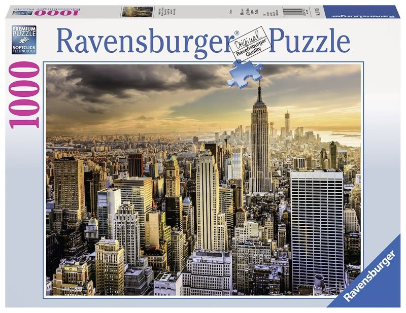 Puzzle 1000 Ravensburger 197125 New York - Drapacze Chmur