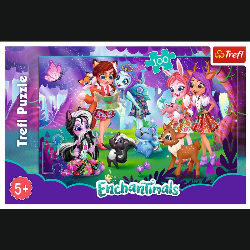 Puzzle 100 Trefl T-16348 Zabawa z Przyjaciółmi - Enchantimals