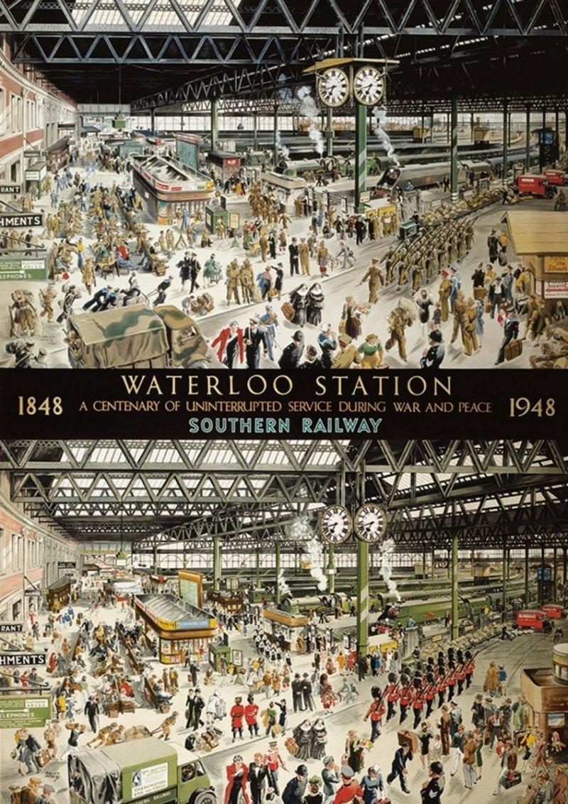Puzzle 1000 Gibson 06049 Stacja Waterloo