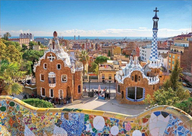 Puzzle 1000 Educa 17966 Barcelona Widok z Parku Guell