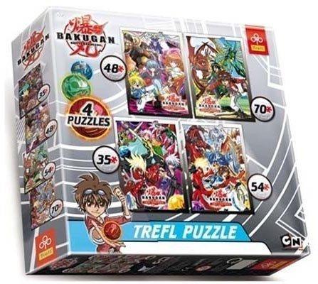Puzzle 4w1 Trefl T-34067 Bakugan