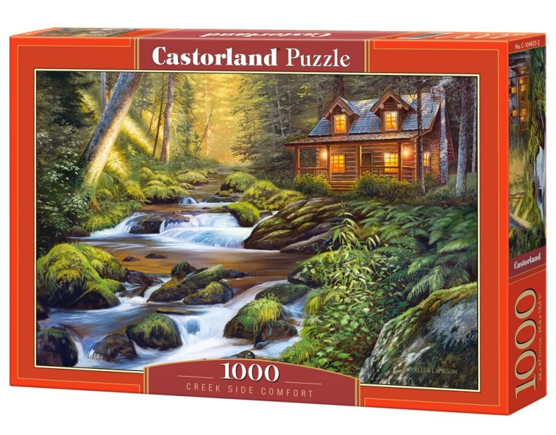 Puzzle 1000 Castorland C-104635 Domek nad Strumieniem