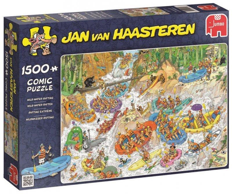 Puzzle 1500 Jumbo 19015 Jan van Haasteren - Ekstremalny Spływ Pontonem