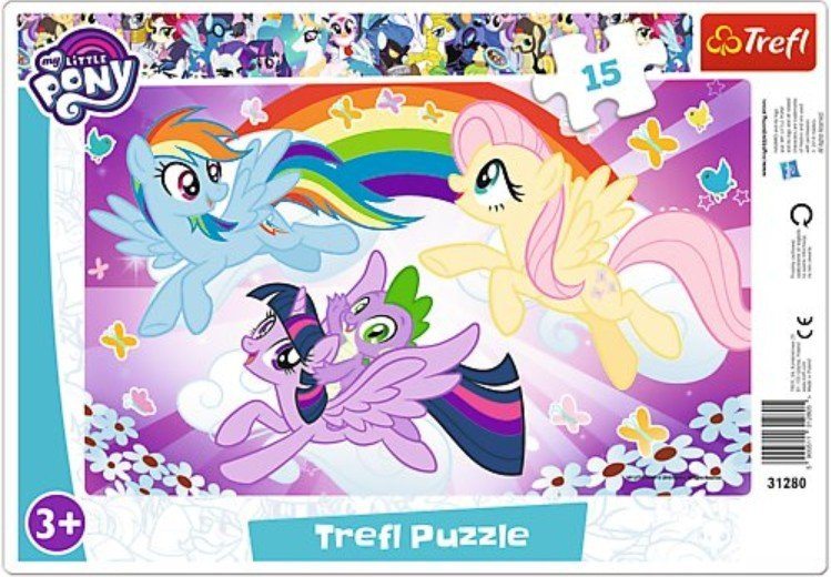 Puzzle Ramkowe 15 Trefl 31280 My Little Pony - Zabawa Kucyków