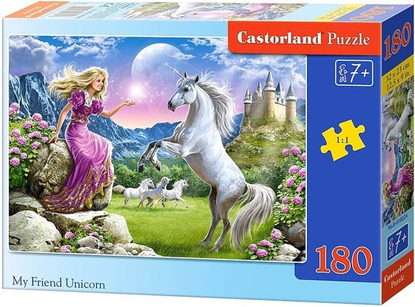 Puzzle 180 Castorland B-018024 My Friend Unicorn