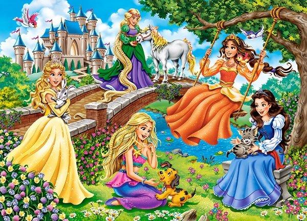 Puzzle 180 Castorland B-018383 Księżniczki