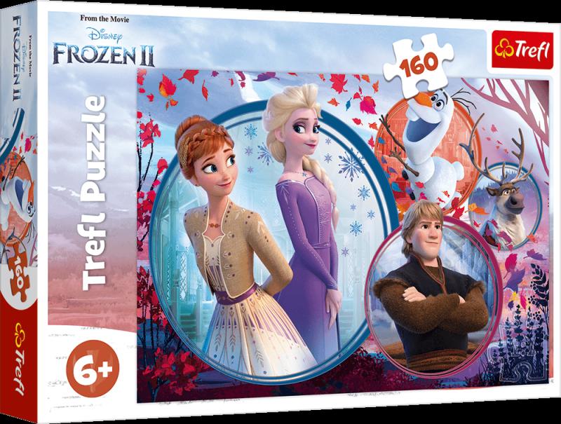 Puzzle 160 Trefl 15374 Disney Kraina Lodu 2 - Siostrzana Przygoda