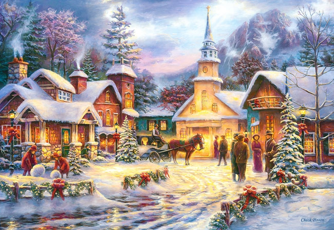 Puzzle 1500 Castorland C-151646 Świąteczny Nastrój