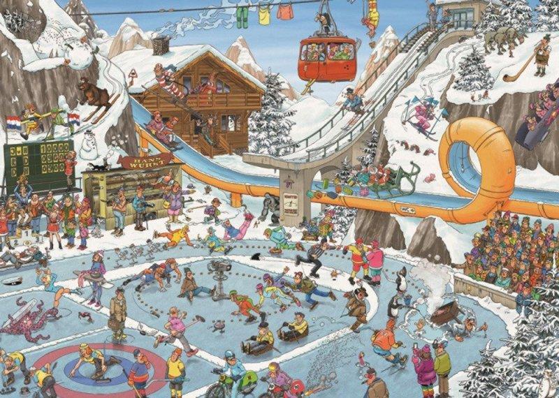 Puzzle 1000 Jumbo 19065 Jan van Haasteren - Sporty Zimowe