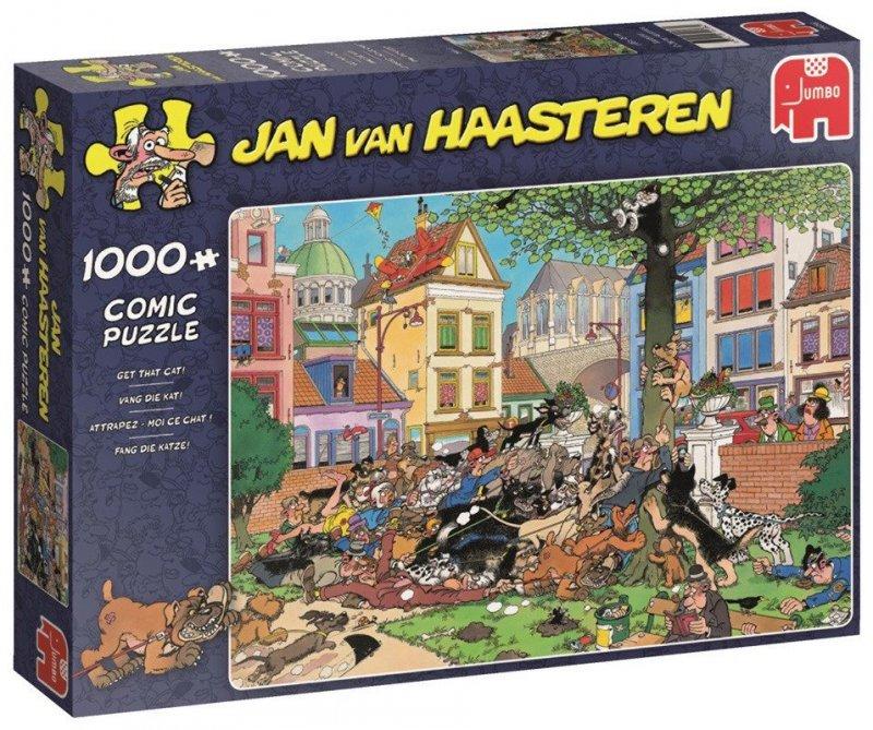 Puzzle 1000 Jumbo 19056 Jan van Haasteren - Złap Kota!