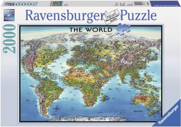 Puzzle 2000 Ravensburger 166831 Mapa Świata