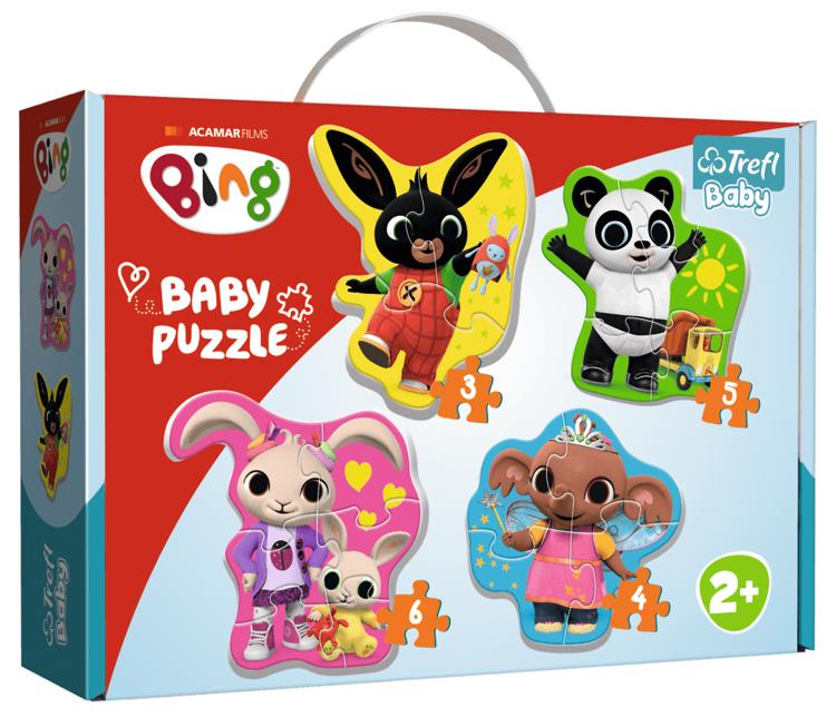 Puzzle 3,4,5,6 Baby Classic Trefl T-36085 Bing i Przyjaciele