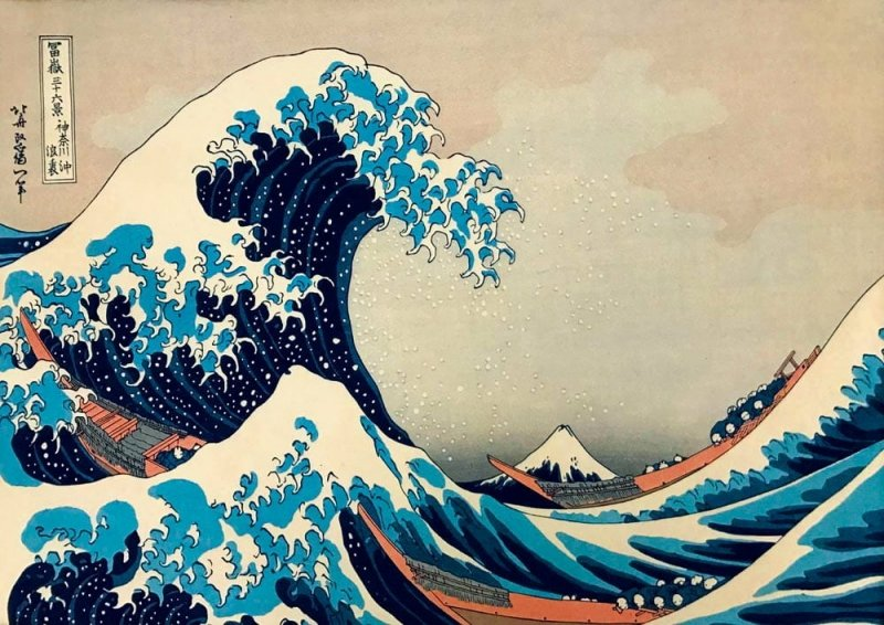 Puzzle 1000 Bluebird 60045 Hokusai - Wielka Fala u Wybrzeży Kanagawy - 1831