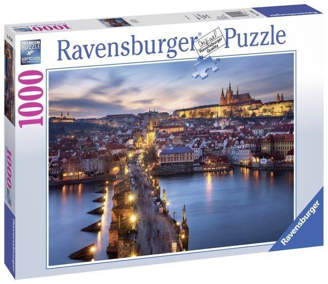 Puzzle 1000 Ravensburger 197408 Praga Nocą