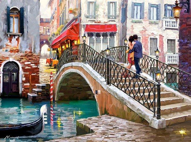 Puzzle 2000 Castorland C-200559 Wenecja Most - Venice Bridge