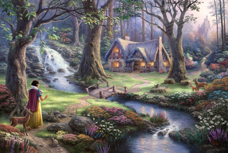 Puzzle 1000 Schmidt 59485 Thomas Kinkade - Królewna Śnieżka - Disney