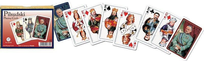 Karty do Gry Lux Piatnik 2 Talie 2567 Marszalek Pilsudski